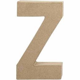 Buchstabe groß Pappmache H=20,5cm, Z, 1 Stück