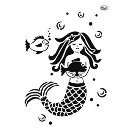 Viva Universal Schablone Meerjungfrau A4, 1 Stück