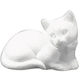 Styropor Katze liegend  125mm x 100mm, 1 Stück