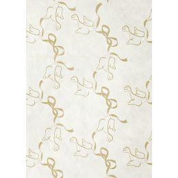 CREApop® Stroh Seide Hochzeitstauben gold  27cm x 15m, 1 Rolle