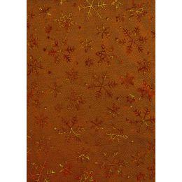 CREApop® Deko Stoff Eiskristall nougat-gold 29cm x 15m, 1 Rolle