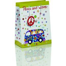 Geschenktasche Pemium Maxi Peace and Love, 1 Stück
