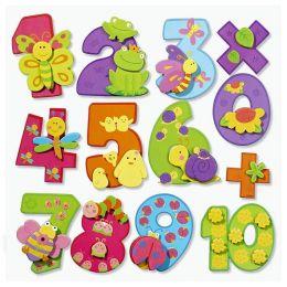 3D Sticker XXL Zahlen, 1 Blatt