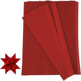 Papierstreifen Fröbelsterne rot, 1cm x 45cm, 500 Stück