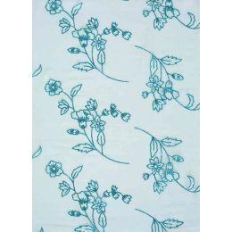 CREApop® Deko Stoff Glimmer Blumen eisblau 29cm x 15m, 1 Rolle