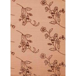 CREApop® Deko Stoff Glimmer Blumen nougat 29cm x 15m, 1 Rolle