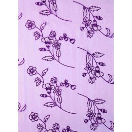 CREApop® Deko Stoff Glimmer Blumen lila 29cm x 15m, 1 Rolle