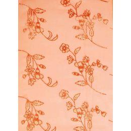 CREApop® Deko Stoff Glimmer Blumen kupfer 29cm x 15m, 1 Rolle