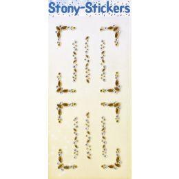 STONY Sticker Acryl Strassbordüre Ellipse bernstein, 1 Blatt