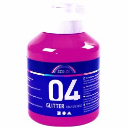 A - Color Acrylfarbe 04 glitter pink 500ml