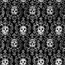 P+ D Serviette, Skulls, 3 lagig, 33x33cm, 1/4 Falz