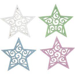 Filz Sterne sort.H=4,6cm, 20 Stück