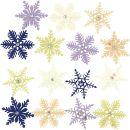 Filz Kristalle mit Strass sort.D=4,5cm, 12 Stück