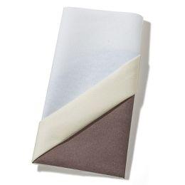Origami Serviette Cutlery bag, 40x40cm, 1/4 gefalzt, 1 lagig, 12 Stück, Farbe cream/blau