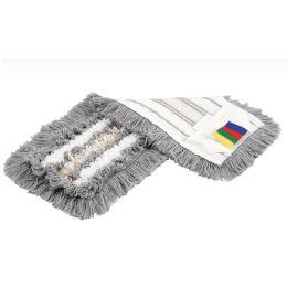 Vileda Trio Mop 40cm, weiß-Microfaser, grau-Polyester, gelb-Baumwolle, 1 Stück