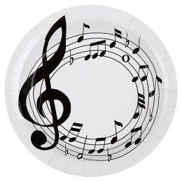 Pappteller Musik 22,5cm, 10 Stück