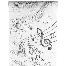 Tischläufer Musik 30cm x 5m, 1 Rolle