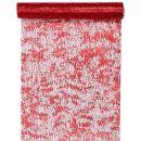 Tischläufer Fantaisie brillant rot 28cm x 5m, 1 Rolle