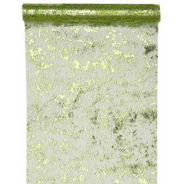Tischläufer Fantaisie brillant grün 28cm x 5m, 1 Rolle
