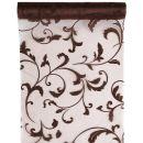 Tischläufer Arabesque schokolade 28cm x 5m, 1 Rolle