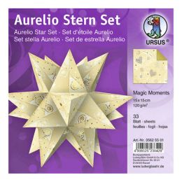 Aurelio Stern Set MAGIC MOMENTS creme 15 x 15cm 120g, 33Blatt