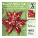 Aurelio Stern Set MAGIC MOMENTS rot 15 x 15cm 120g, 33Blatt