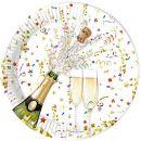 Pappteller Happy New Year 23cm, 10 Stück