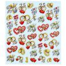Hobby - Design Sticker Jubiläum 25, 1 Blatt