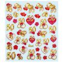 Hobby - Design Sticker Jubiläum 50, 1 Blatt