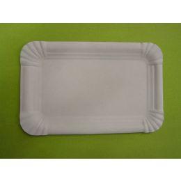 Pappteller Frischfaser rechteckig 17x24cm weiß, 250 Stück
