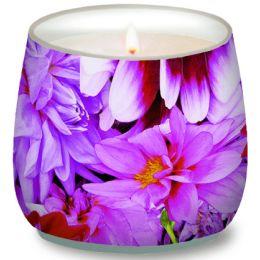 Glaskerze Purple dahlias, d=7cm h=7cm