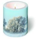 Dekorkerze A Winter Dream, rund 9x10cm, in Folie...
