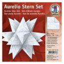 Aurelio Stern Set SCHNEE Transparentpapier 14,8 x 14,8cm...