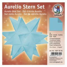Aurelio Stern Set Transparentpapier petrol 15 x 15cm 115g, 33Blatt