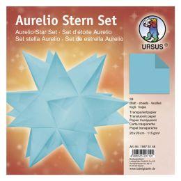 Aurelio Stern Set Transparentpapier petrol 20 x 20cm 115g, 33Blatt