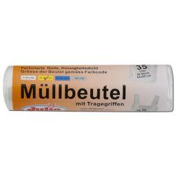 Julia Müllbeutel mit Tragegriffen 35 Liter 20 Stück extra stark, 1 Rolle