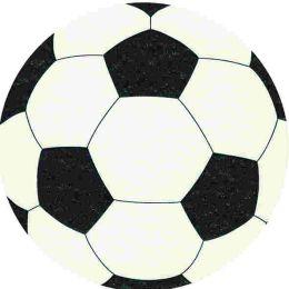 P + D Serviette Silhouettes Fußball gestanzt 1-lagig Airlaid 1/4 Falz