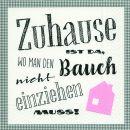 P + D Serviette Zuhause 3-lagig 33x33cm 1/4 Falz