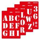 Schablone Große Druckbuchstaben A4, 1 Stück