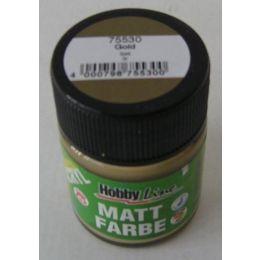 Hobby Line Acryl-Mattfarbe, gold, 1 Glas 50ml
