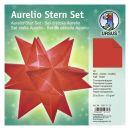 Aurelio Stern Set Transparentpapier rot 20 x 20cm 115g,...