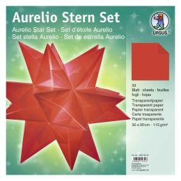 Aurelio Stern Set Transparentpapier rot 30 x 30cm 115g, 33Blatt