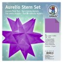 Aurelio Stern Set Transparentpapier aubergine 20 x 20cm...