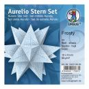 Aurelio Stern Set FROSTY hellblau / weiss 10 x 10cm 80g,...