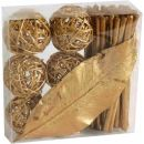 Rattanball Set gold, 1 Pack