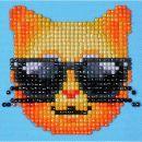 Pracht Diamond Dotz Coole Katze 10,2 x 10,2cm, 1 Stück