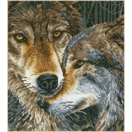 Pracht Diamond Dotz kuschelnde Wölfe 42 x 47cm, 1 Stück