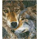 Pracht Diamond Dotz kuschelnde Wölfe 42 x 47cm, 1...