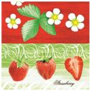 Mank Serviette Linclass Strawberry 1/4 falz 40x40cm 60g,...