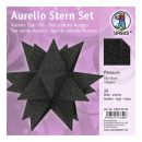 Aurelio Stern Set PLEASURE schwarz 15 x 15cm 135g, 33Blatt